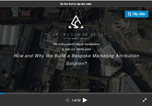 How & why we built a bespoke marketing attribution solution